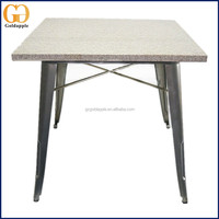 Mordern Design Stainless Steel Marble Top Dining Room Table