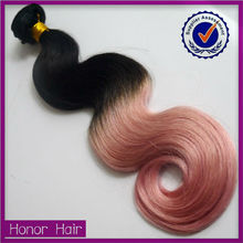 2015 Angel 6a expression two tone wet and wavy weave brazilian human hair weave