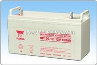 Maintenance free 12V100ah YUASA Brand UPS battery/solar battery.
