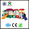 Happy time theme kids slides games outdoor children playground equipment made in china QX-157D