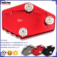 BJ-SSE-DU001 Top Quality CNC Aluminum Anodized Motorcycle Side Stand Puck for Ducati MONSTER 1200/1200S 14-15