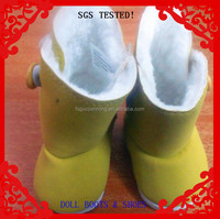 """Brown PU made,button decorated 16"""" Doll boots"""