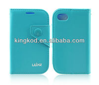Ulike High quality book style flip leather phone cover for blackberry 9720