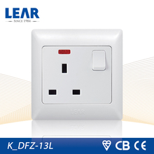 High quality British standard 13A switched socket