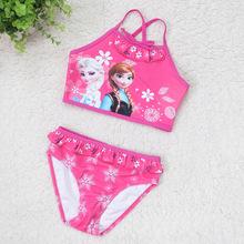 wholesale frozen young girl bikini children bathing suit frozen girls beachwear 2015 new style children fashion bikini