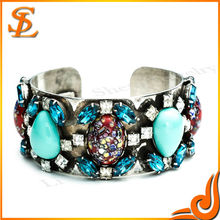 2014most popular style bracelet, mosaic blue gems,beautiful jewelry