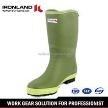 Men's gum mid-heel rubber boots rain boots wellies wellington boots