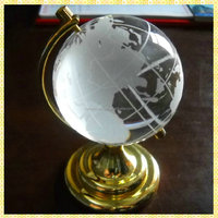 New Arrival Wholesale Crystal Globe For Office Desk Decoration