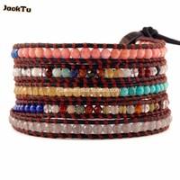 2015 jacktu stars design braided leather bracelet party