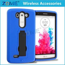Cheap For Lg G3 Mini G3 Vigor D725 Hybrid Armor Pc+Silicone Cellphone Case With Vertical Stand 2 Layers Mobile Covers