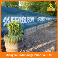 Outdoor large mesh fence fabric banner flex mesh polyester banner