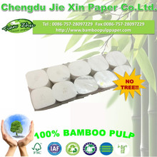 eco-friendly soft core coreless 100% original bamboo pulp toilet paper 8 rolls/pack toilet tissue bath tissue