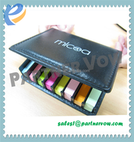 Slope memo pad ,sticky memo notes with calendar colour papers printing on cover
