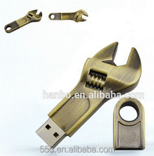 Metal Pliers Wrench usb flash drive pen, Wrench Shaped USB Flash Stick key, Silver usb pen key