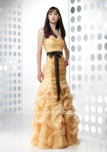 2012 New Arrival fashionable LSM-003 new Floor -length net high quality party dresses prom dresses