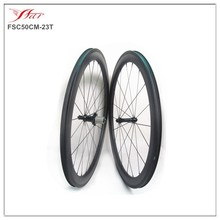 Tubeless compatible 50mm 23mm carbon fiber wheels, road bike clincher wheels, 20/24H, 3K matte, straight pull hub Sapim spokes