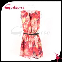 Summer Printed Dress With Beautiful Printed Pattern For Women from China Supplier