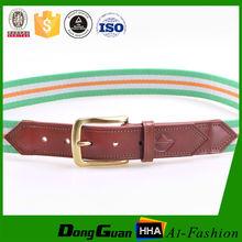 Stripe Men's fabric leather belt