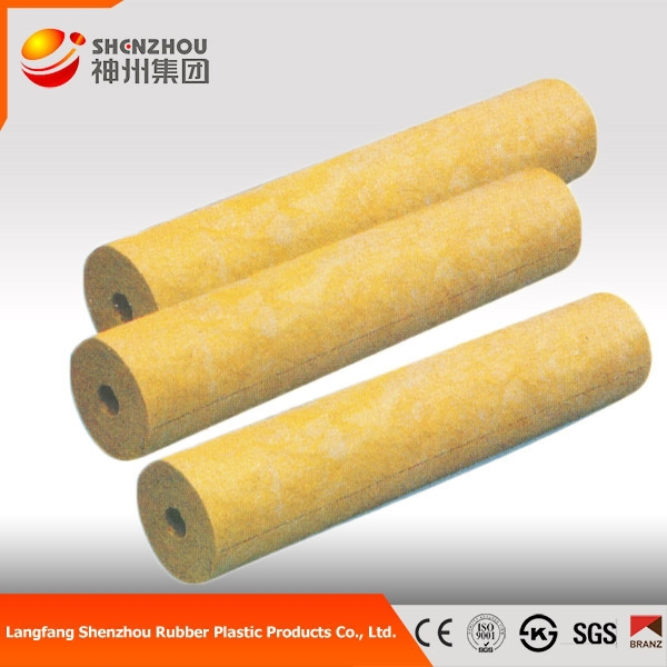 Thermal insulation construction materials rock wool pipe for Rockwool pipe insulation prices