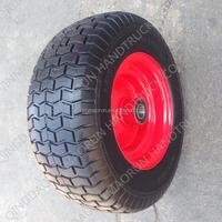 6.50-8 Steel Rim Wheel Barrow Wheels Wide No Flat Tire