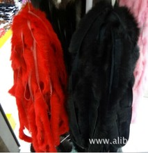 Raccoon Fur/Natural Rabbit Fur Strips / Raw Fur Material