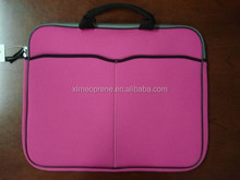 colorful printed neoprene zipper laptop bag/sleeve with handle