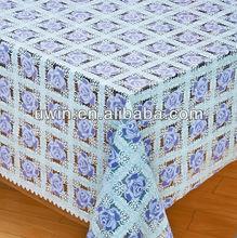 qualidade de plástico pvc folha de rolos de pvc revestido de toalhas de mesa