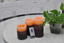 Pillar Paraffin Wax Flameless RGB Remote Control LED Candle Light