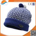 De China venta al por mayor de punto Beanie / artículos de punto personalizada Pom Beanie sombrero / el sombrero hecho punto sombrero