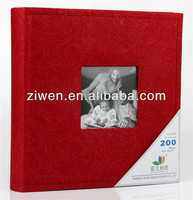 4.5x6/4D 200 photos Deluxe velvet cloth photo album with memo slip in albums