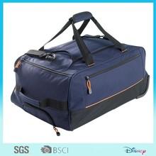 top quality nylon polo trolley travel luggage bag