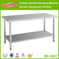 Catering Kitchen Stainless Steel Prep Work Bench Table 1200mm Without Upstand