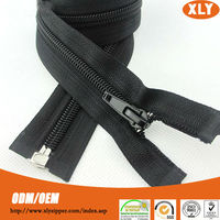 Hot selling products open end nylon zipper for sale with zipper insertion pin