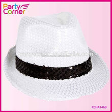 White and Black Sequin Gangster With Band