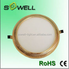 12W plastic+aluminum material IP44 CE/RoHS/SASO electroplating LED panel lights
