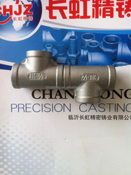 NPT /BSP / BSPT 150 PIS stainless steel 304 / 316 pipe fittings Tee size 1/8''-4'' made in China NPT thread