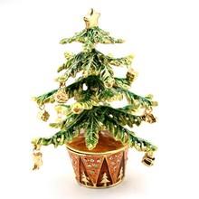 2015 new year design christmas tree box  gift jewerly box  kid gift HQJB103040