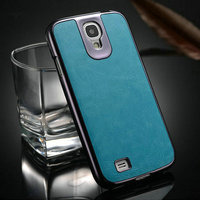 Manufacture supplier Hot selling high quality PU +PC leather flip cover case for samsung galaxy s4