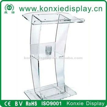 acrylic digital Lectern, Podium size, Pulpit, Speakers Stand.acrylic lecter table