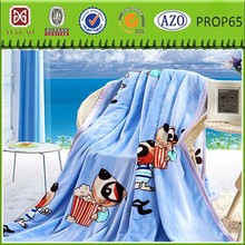 Polyester super soft knitted blanket child checked printed blanket flannel fleece blanket