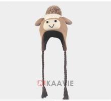 alpaca lamb sheep animal shaped winter beanie hat