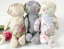 Fashion recycled cotton foldable bag/ bear foldable shopping bag/customized foldable tote bag
