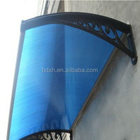 Polycarbonate rain canopy awning for window awning shelter or door canopy