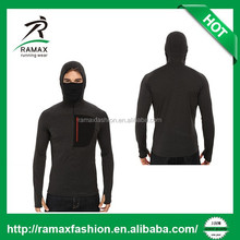 RAMAX CUSTOM RUNNING AND FITNESS MESH HOODIES WITH A FUCTIONAL BALACLACA FOR MEN'S