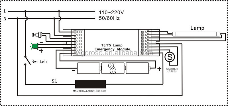 t8 58w emergency power backup  view emergency power backup