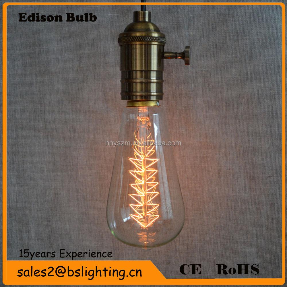 Edison Vintage 110v E26 E27 A19 A60 40w 60w Equivalent: 2015 Most Popular Edison Bulbs E27/b22 25w40w/60w