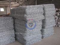 Galvanized gabion basket / welded gabion box / anping hexagonal mesh