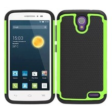 Football Texture Silicone and PC Hybrid Rugged Phone Case for Alcatel One Touch Pop 2