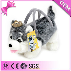 child toy handstand plush dog in bag dog backpacks