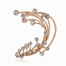 Europe and America exaggerated personality diamond selling flowers without pierced ear hanging branches